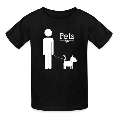 Kid tshirt Pets love