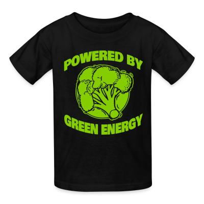 Kid tshirt Powered by green energy