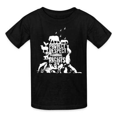 Kid tshirt Protect respect animal rights