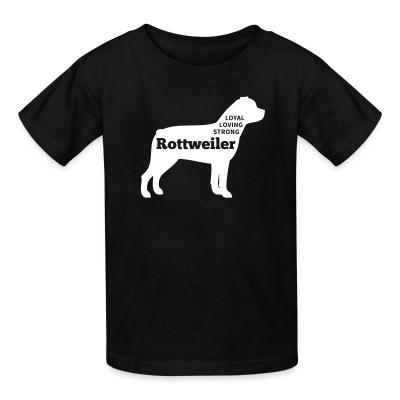 Rottweiler loyal loving strong