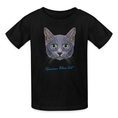 Kid tshirt Russian Blue Cat