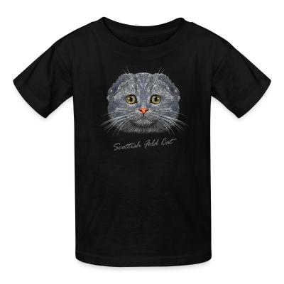 Kid tshirt Scottish Fold Cat