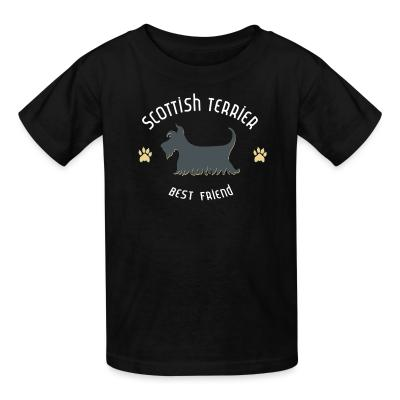 Kid tshirt Scottish terrier best friend
