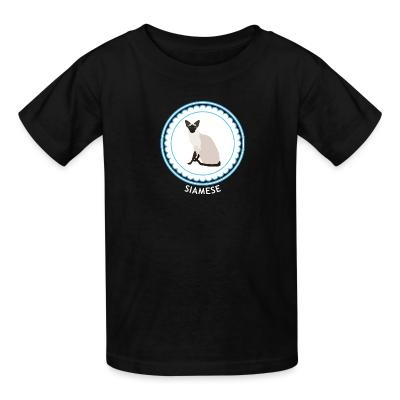 Kid tshirt Siamese Cat