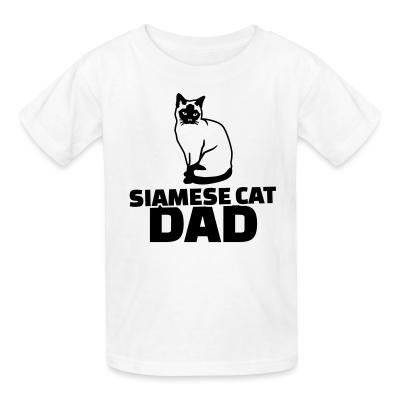 Kid tshirt Siamese cat dad