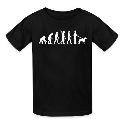 Kid tshirt Staffordshire Bull Terrier evolution
