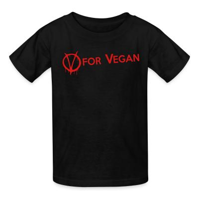 Kid tshirt V for Vegan