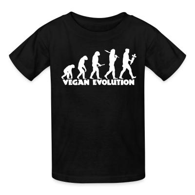 Kid tshirt Vegan evolution