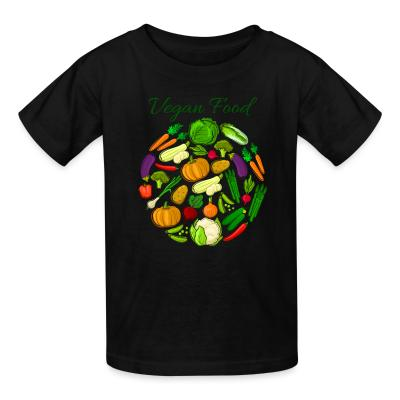 Kid tshirt Vegan food