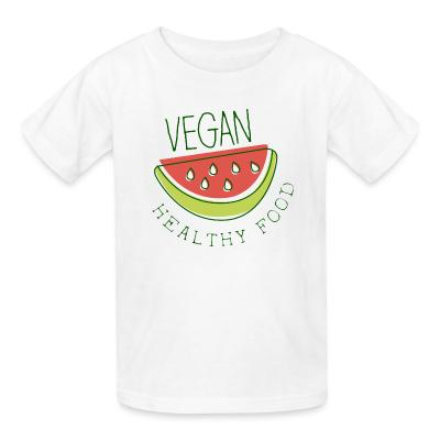 Kid tshirt Vegan healthy food