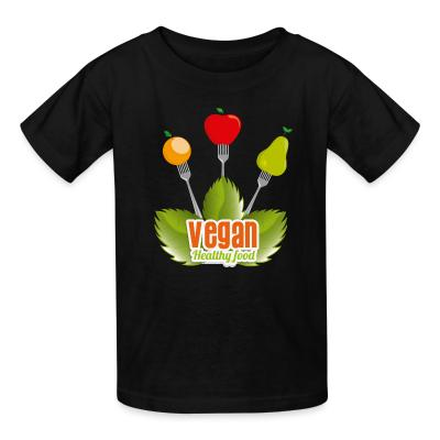 Kid tshirt Vegan Healty food