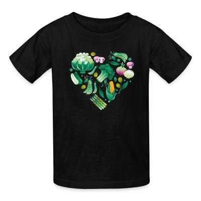 Kid tshirt Vegetable heart