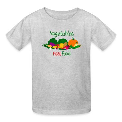 Kid tshirt vegetable real food