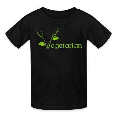 Kid tshirt Vegetarian