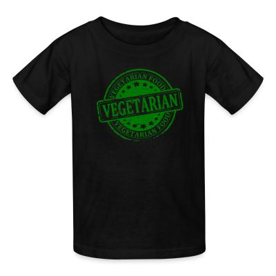 Kid tshirt Vegetarian food