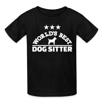 Kid tshirt World best god sitter