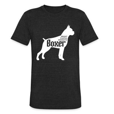 Local T-shirt BRIGHT PLAYFUL ENERGETIC BOXER