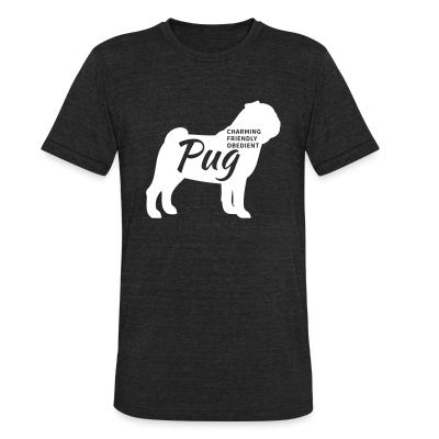 Local T-shirt Charming friendly obedient pug