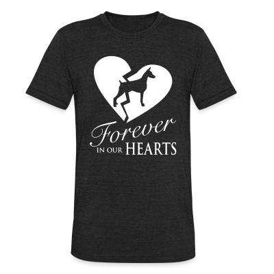 Local T-shirt Doberman Pinscher forever in your hearts