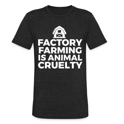 Local T-shirt Factory farming is animal cruelty