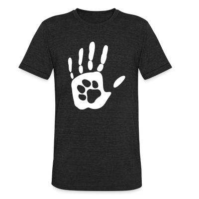 Local T-shirt Human hand & animal paw