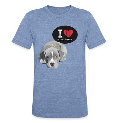 Local T-shirt I love pitbull terrior