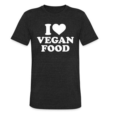 Local T-shirt I love Vegan  food