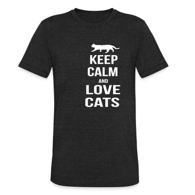 Local T-shirt keep calm and love cats