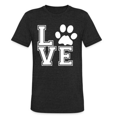 Local T-shirt love paw