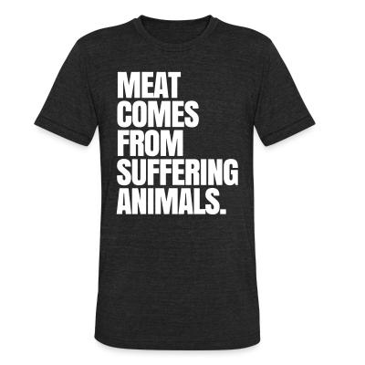 Local T-shirt Meat comes from suffering animals