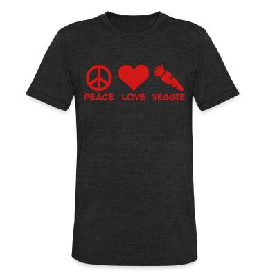 Local T-shirt Peace love veggie