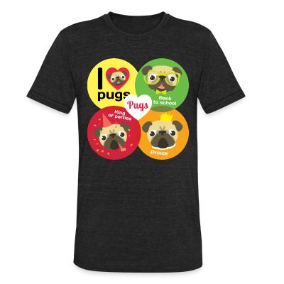 Local T-shirt Pug / i love pug / back to school / king of parties / prince