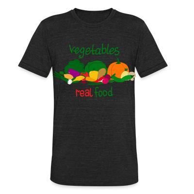 Local T-shirt vegetable real food