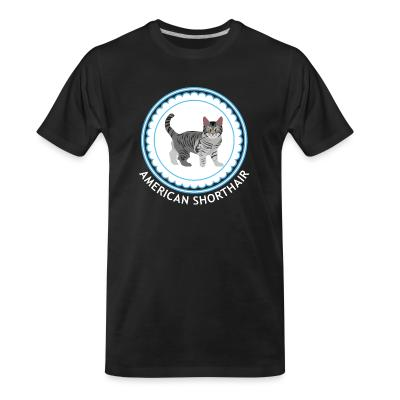 Organic T-shirt American Shorthair cat