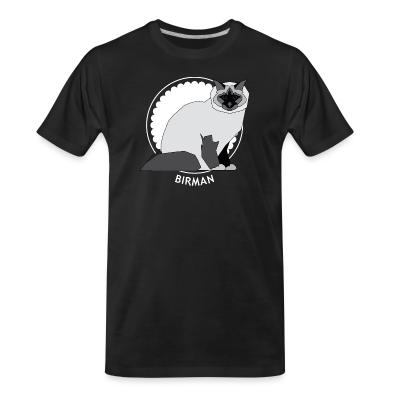 Organic T-shirt Birman Cat