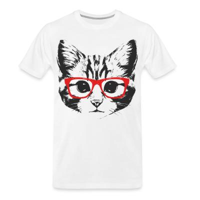 Organic T-shirt Cat Face