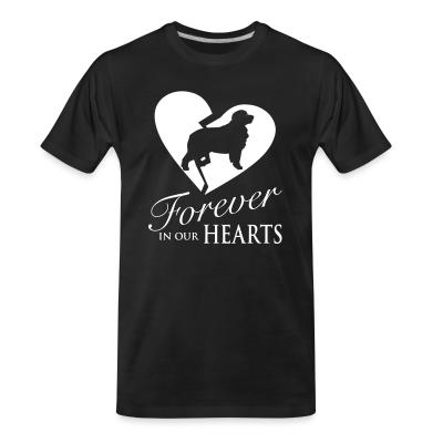 Organic T-shirt Forever in our hearts