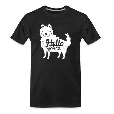 Organic T-shirt Hello friend