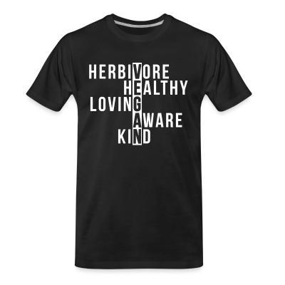 Organic T-shirt Herbivore healthy loving aware kind vegan