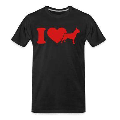 Organic T-shirt I love French Bulldog