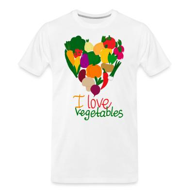 Organic T-shirt I love vegetables