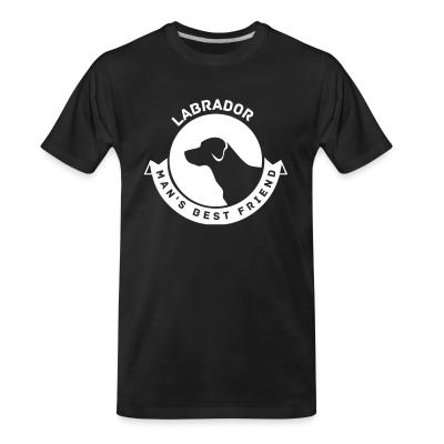 Organic T-shirt Labrador man's best friend