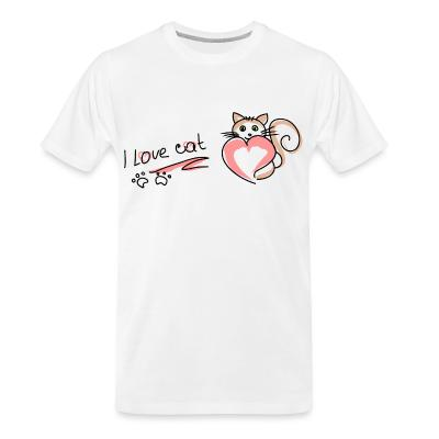 Organic T-shirt Love cat