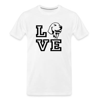 Organic T-shirt love Golden Retriever