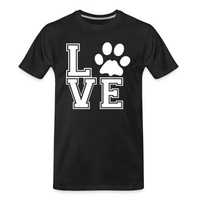 Organic T-shirt love paw