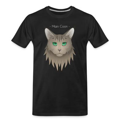 Organic T-shirt Maine Coon Cat