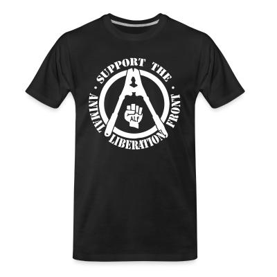 Organic T-shirt Support the Animal Liberation Front (ALF)