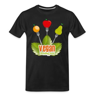 Organic T-shirt Vegan Healty food