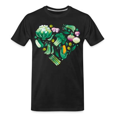 Organic T-shirt Vegetable heart