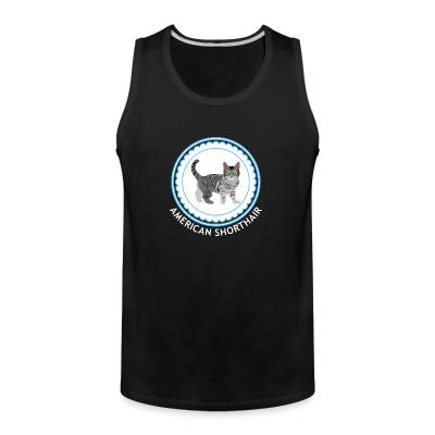 Tank top American Shorthair cat